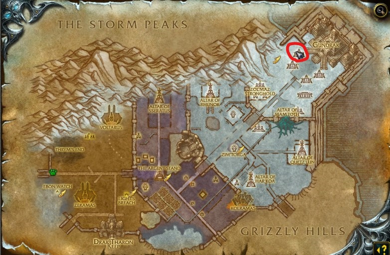 Zul'Drak map