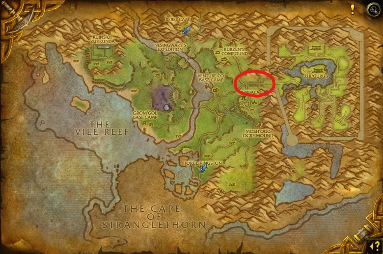 northern stranglethorn zul'gurub location