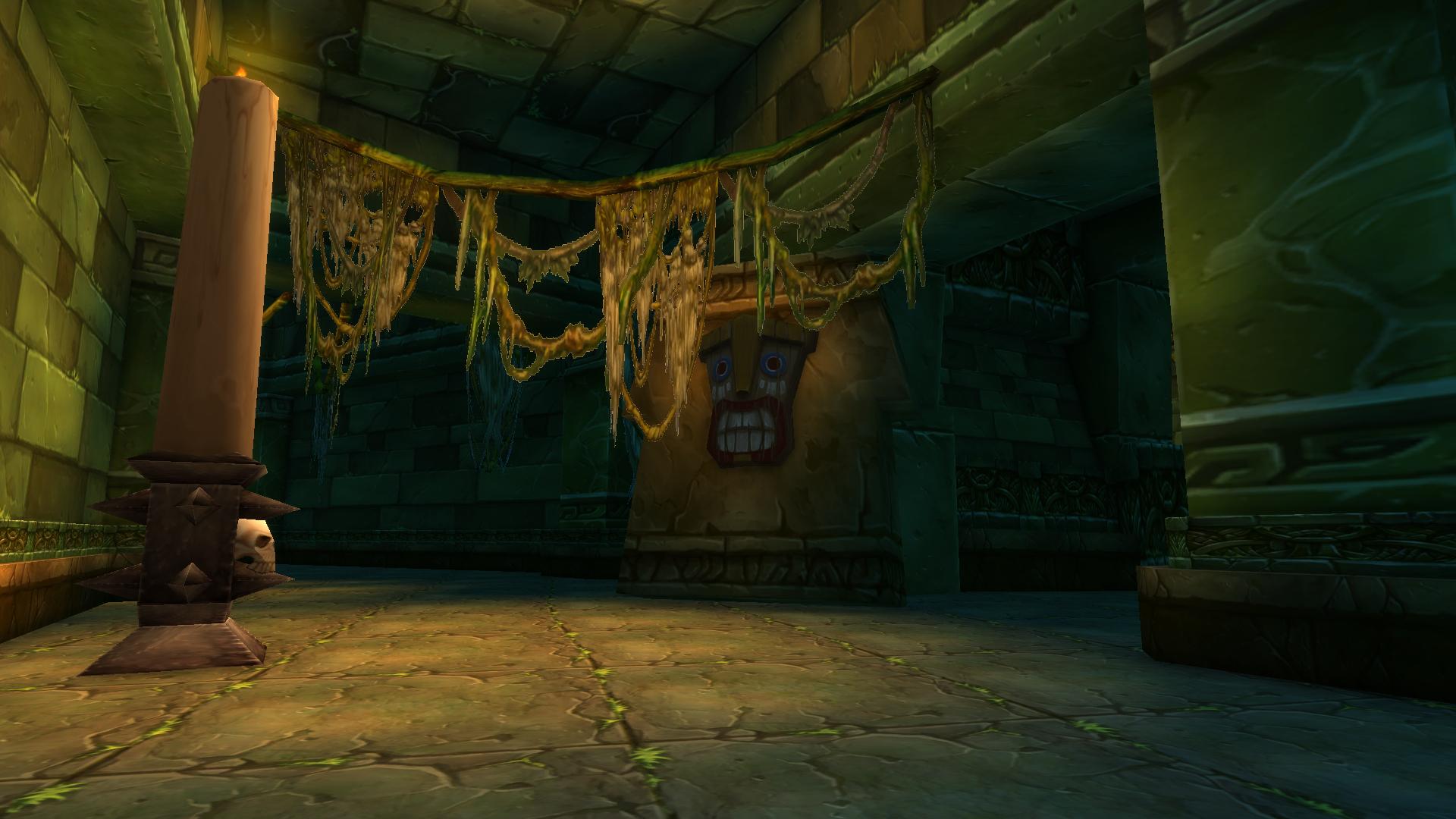 sunken temple passageway